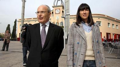 Núria Parlon y José Montilla, ex presidente de la Generalitat, horas antes de ser nombrada alcaldesa.