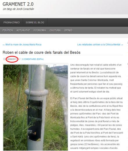 Información del 18 de junio del 2011.