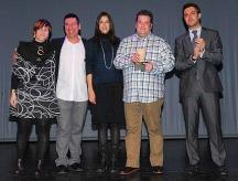 Mar Gómez, Siscu Sánchez, Núria parlon, Víctor Quintillà i Carles Combarros, al Sagarra.