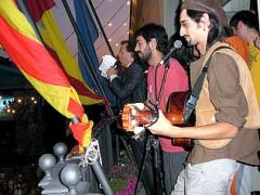 El grup colomenc Los Barrankillos, que actuen enguany, en el seu pregó del 2010.